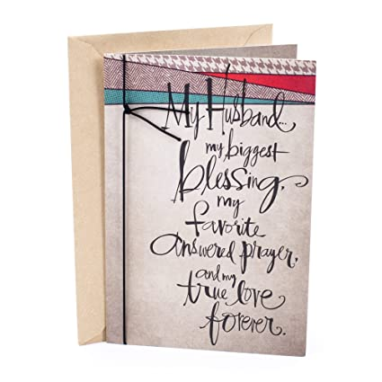 Amazon Hallmark Mahogany Birthday Card For Husband Thank The Lord You Office Products