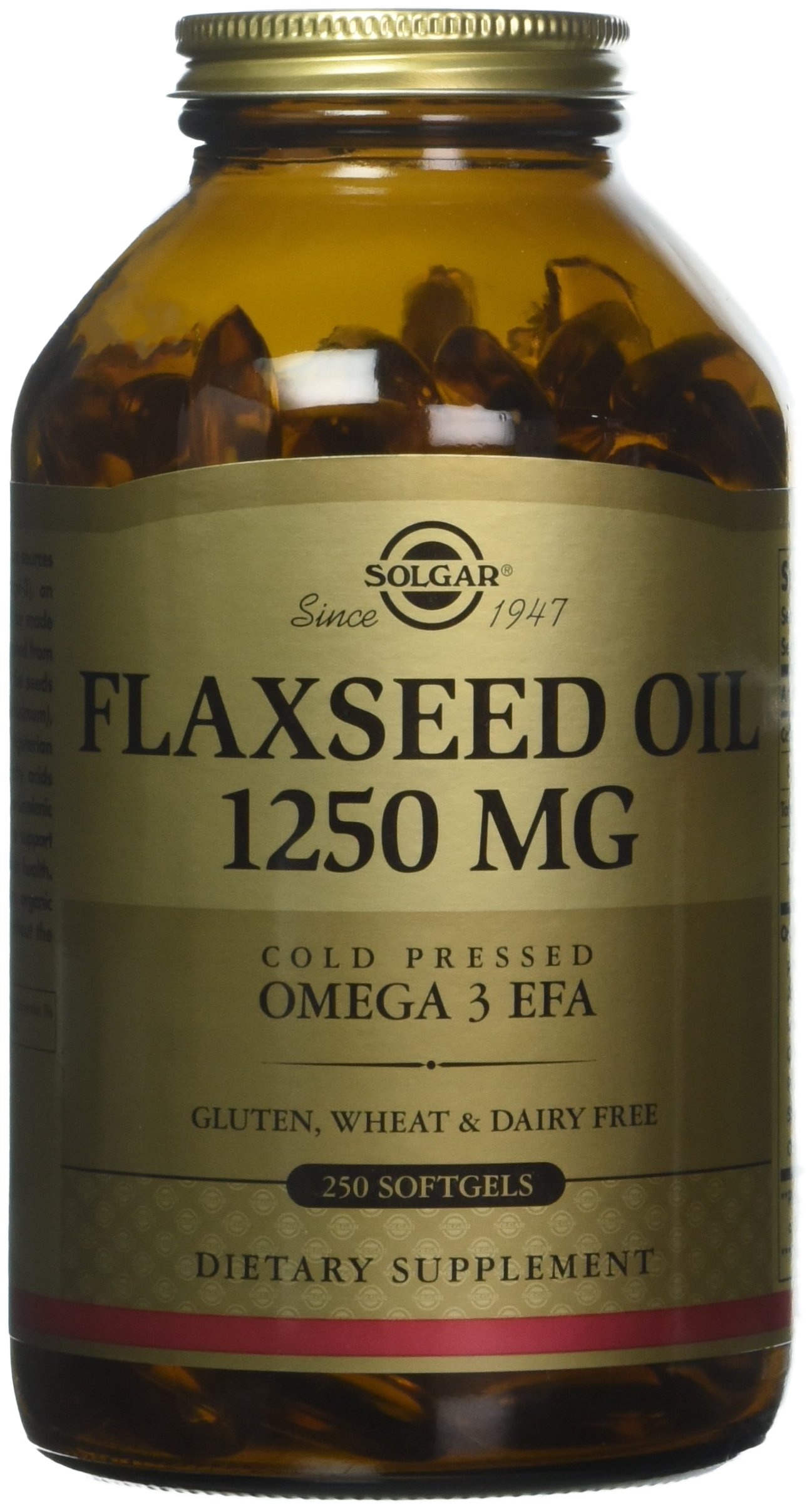 Solgar – Flaxseed Oil 1250 mg, 250 Softgels