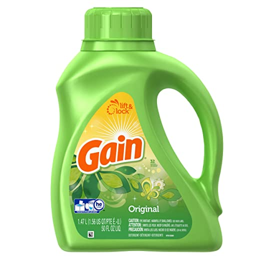 Gain Liquid Detergent with Original Scent, 32 Loads, 50-Ounce