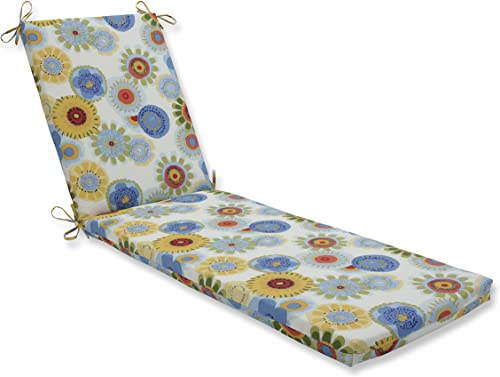 Pillow Perfect Outdoor Indoor Crosby Confetti Chaise Lounge Cushion, 80 x 23 , Multicolored