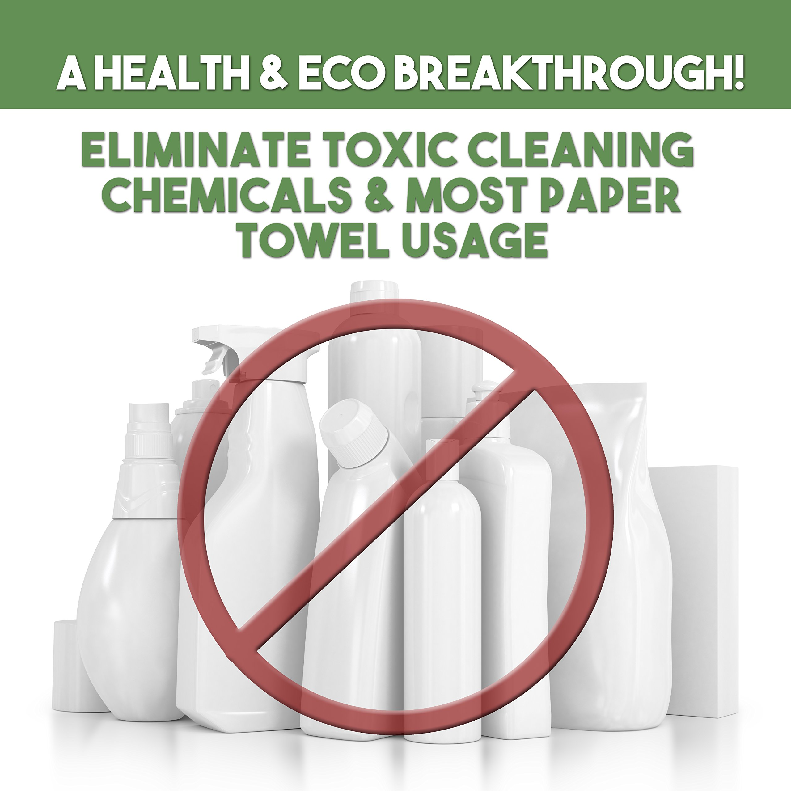 Life Miracle Nano Towels SUPERSIZED The Breakthrough Fabric That Replaces Paper Towels and Toxic Chemical Cleaners. Use As Bath Towels, Kitchen Towels, etc. All Purpose Cleaning Wipes 26x18 by Life Miracle (Image #7)