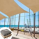 casa pura Sun Shade Sail | Shade Cloth, Protect Against UV | Sun Shades for Patio and Garden | Triangle | Multiple Sizes | Gray - 12' x 12' x 12'