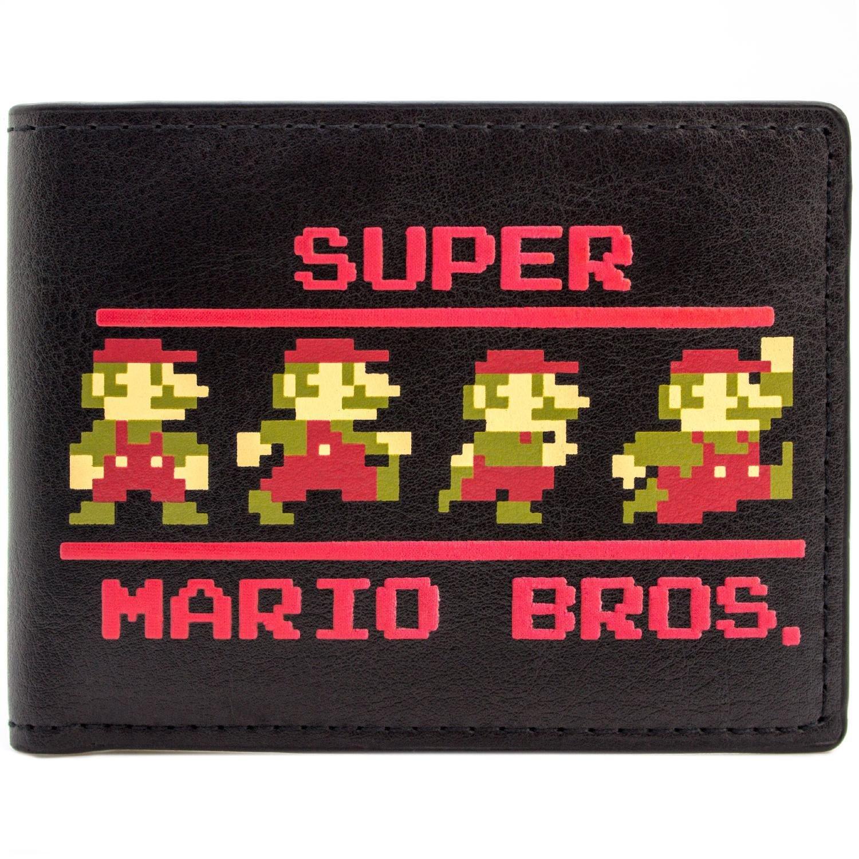 Cartera de Nintendo Super Mario Bros Pixel 9-Bit Negro: Amazon.es ...