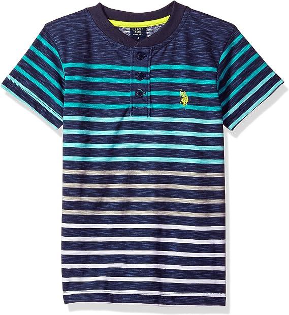 U.S Boys Short Sleeve Striped Polo Shirt Polo Assn