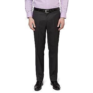 2014885c3536f Moss Esq. Men`s Regular Fit Charcoal Suit Trousers
