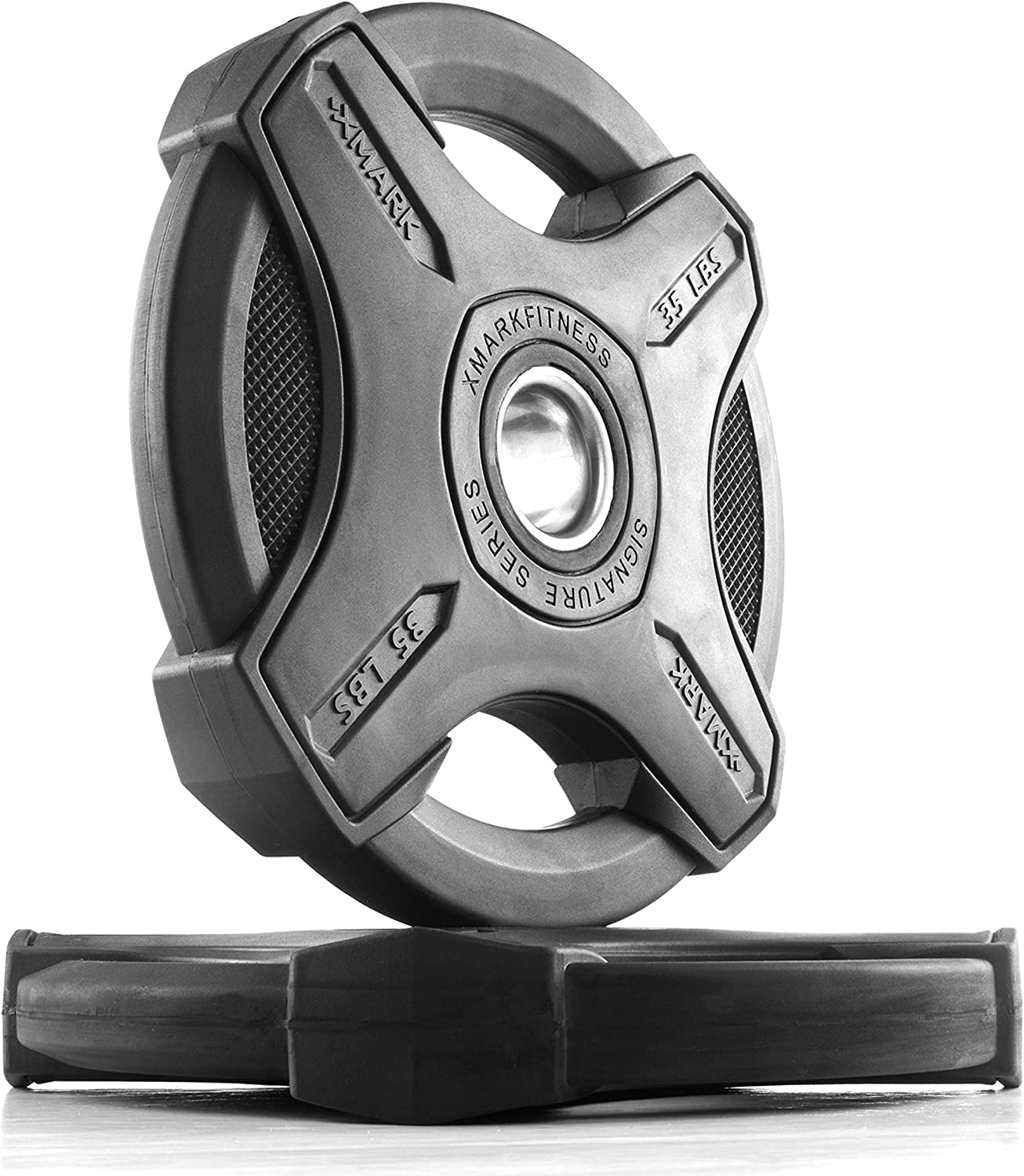XMark Signature Plates, One-Year Warranty, Olympic Weight Plates, Cutting-Edge Design, Pairs and Sets, Use with 2 inch Olympic Bar