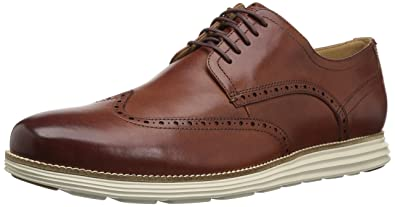 Cole Haan Men's Original Grand Shortwing Shoe, Woodbury Leather/Ivory, ...
