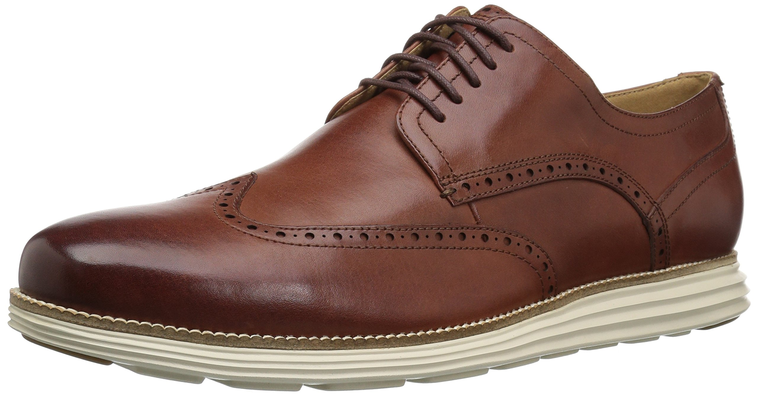 Cole Haan Men's Original Grand Shortwing Oxford Shoe, woodbury leather/ivory, 14 W US