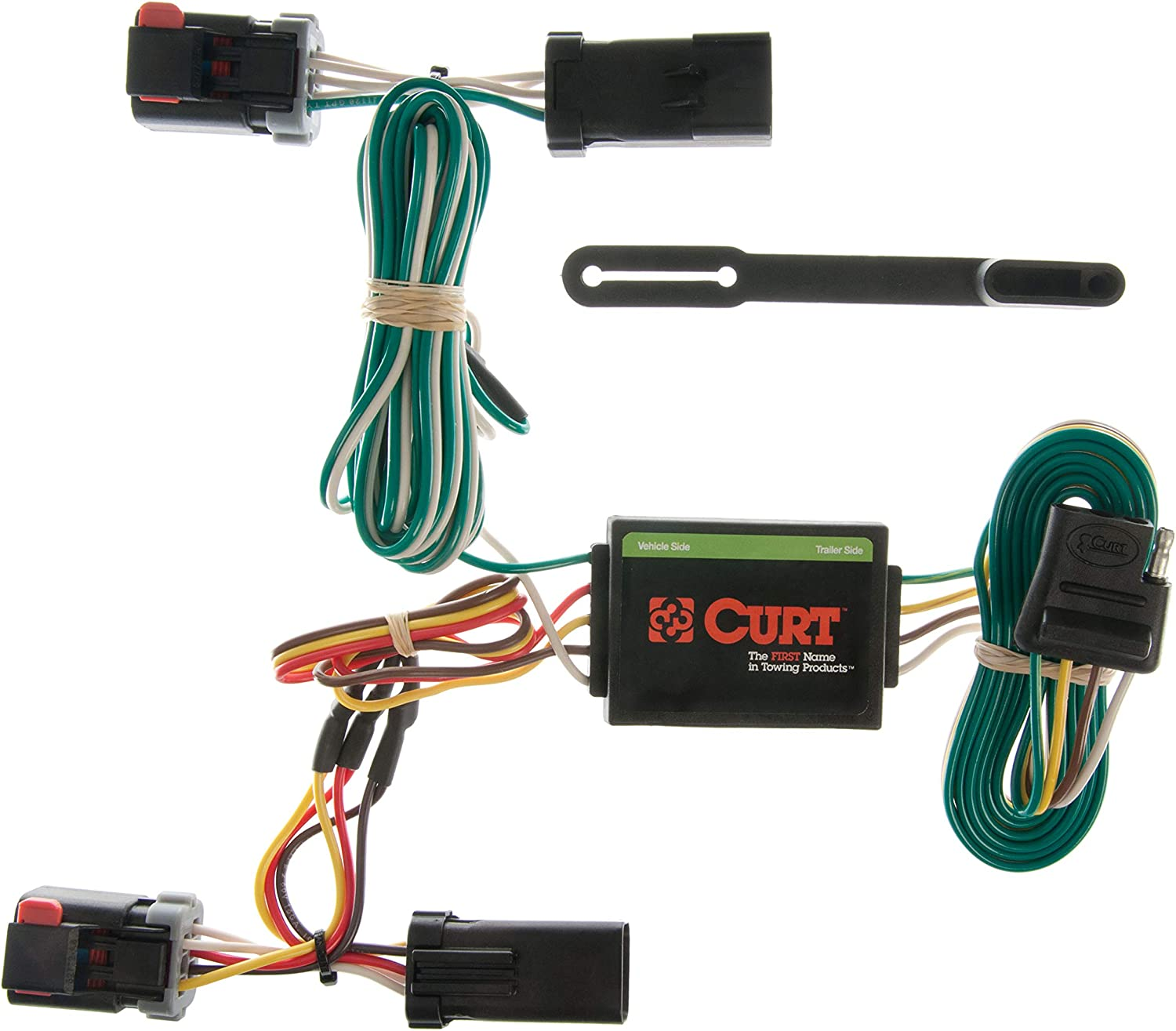 CURT 56331 Vehicle-Side Custom 4-Pin Trailer Wiring Harness for Select Chrysler Town and Country Dodge Caravan Grand Caravan