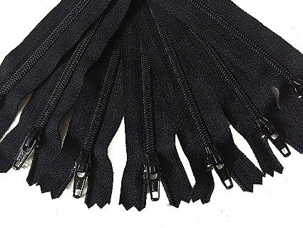 Amazon.com: Negro YKK cierre de cierre para vestidos faldas ...