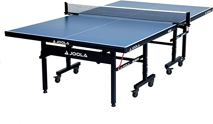 Amazon.com : JOOLA Inside - Professional MDF Indoor Table Tennis Table with Quick Clamp Ping Pong Net and Post Set - 10 Minute Easy Assembly - USATT Approved - Ping Pong Table with Single Player Playback Mode : Sports & Outdoors