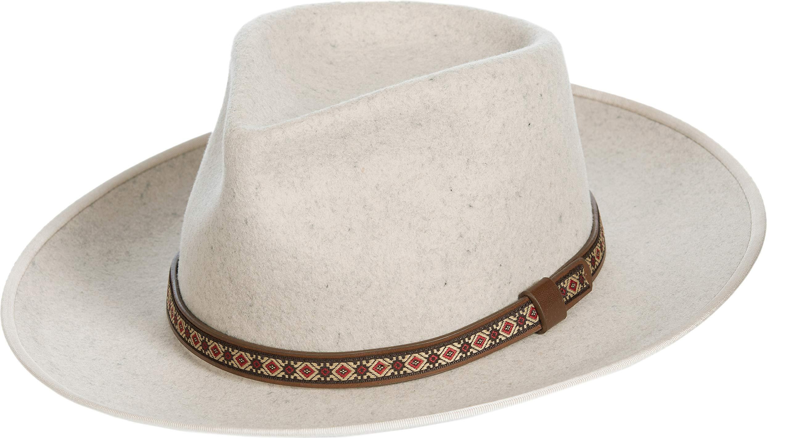 Overland Sheepskin Co Alpes Wide Brim Wool Felt Fedora Hat by Overland Sheepskin Co (Image #1)