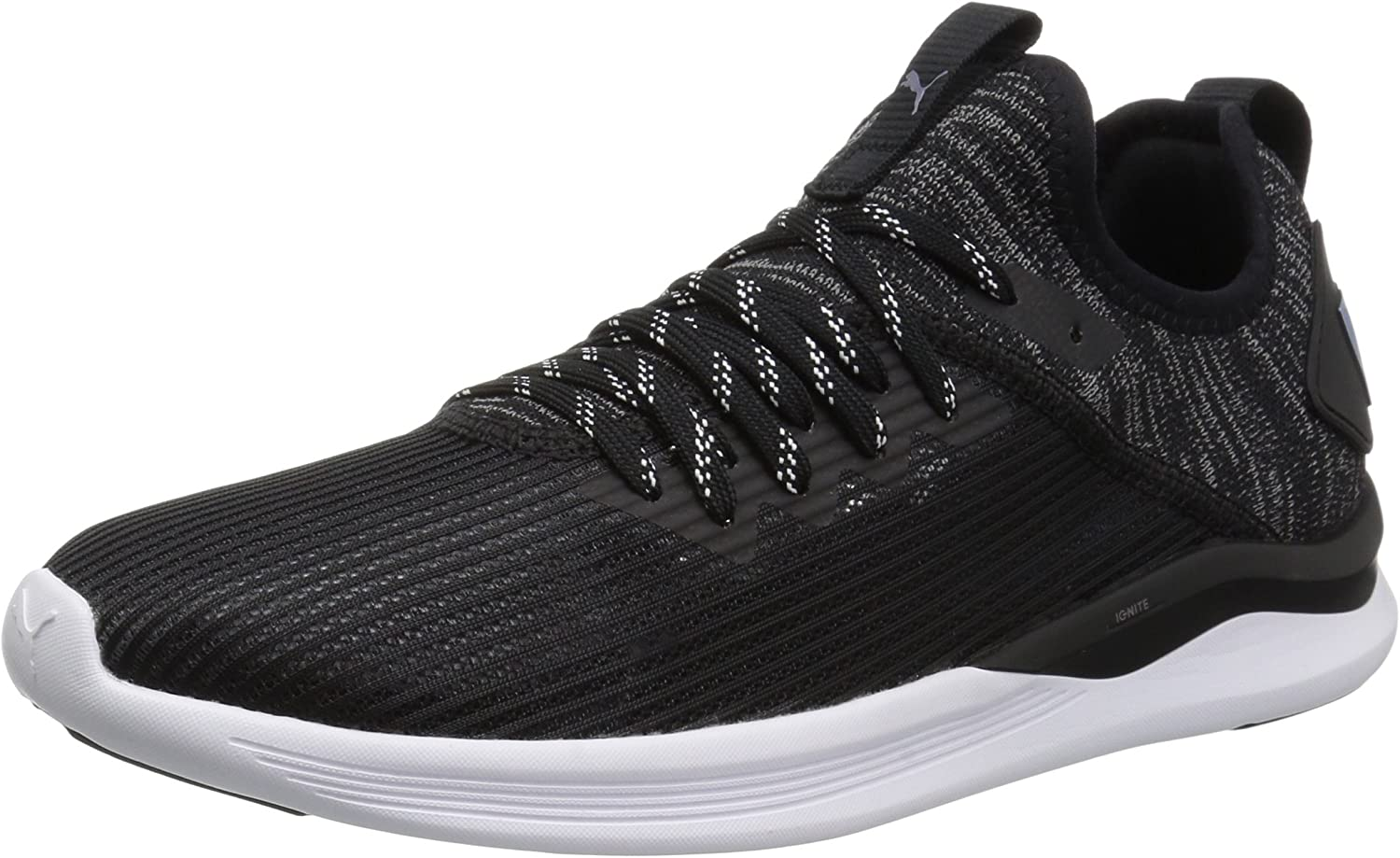 PUMA Women's Ignite Flash Evoknit Stripped Wn Sneaker