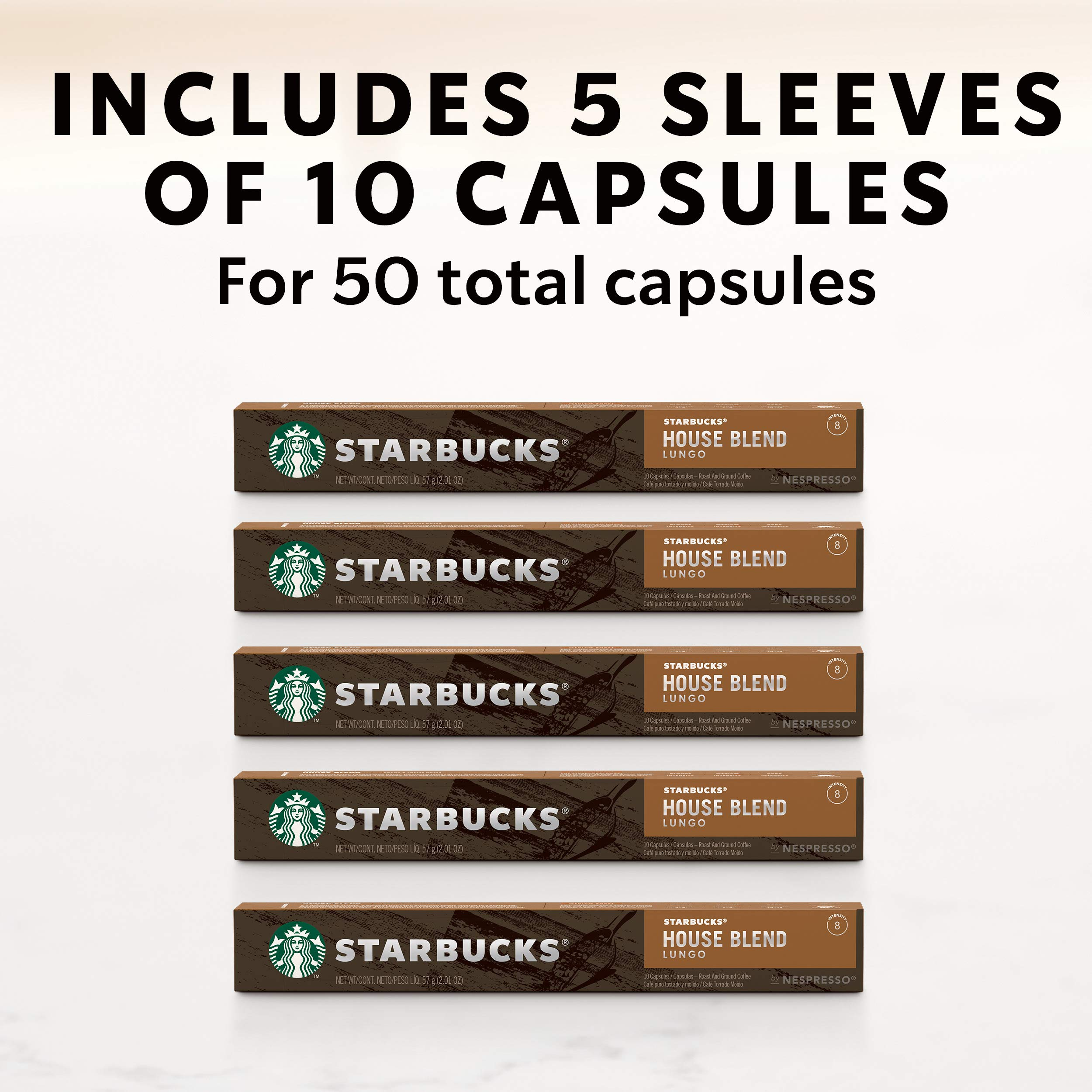 Starbucks by Nespresso, House Blend (50-count single serve capsules, compatible with Nespresso Original Line System) by Starbucks for Nespresso (Image #7)