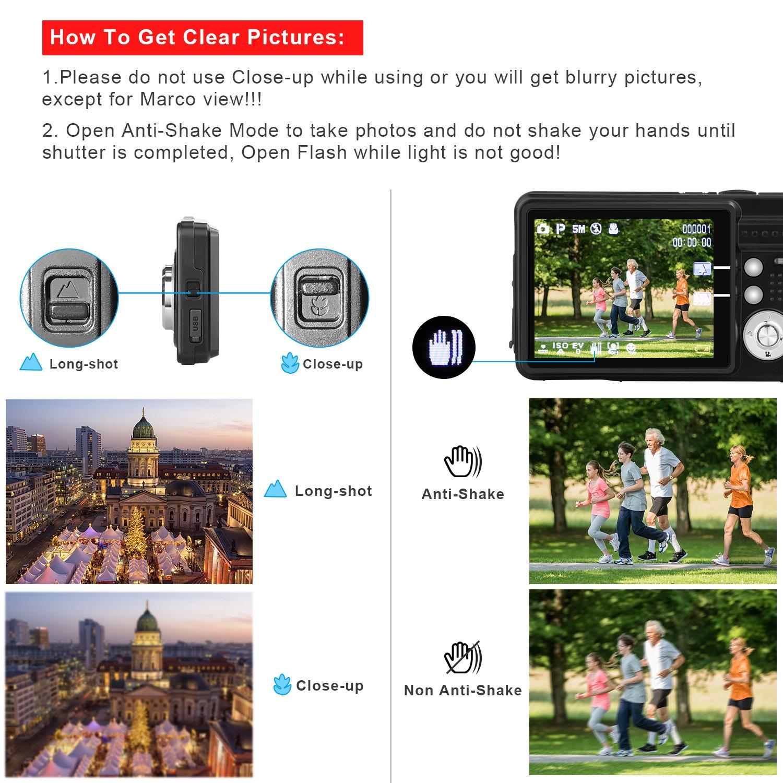 Yasolote HD Mini Point Shoot Digital Camera Video Recorder Cameras Sports,Travel,Holiday,Birthday Present by Yasolote (Image #7)