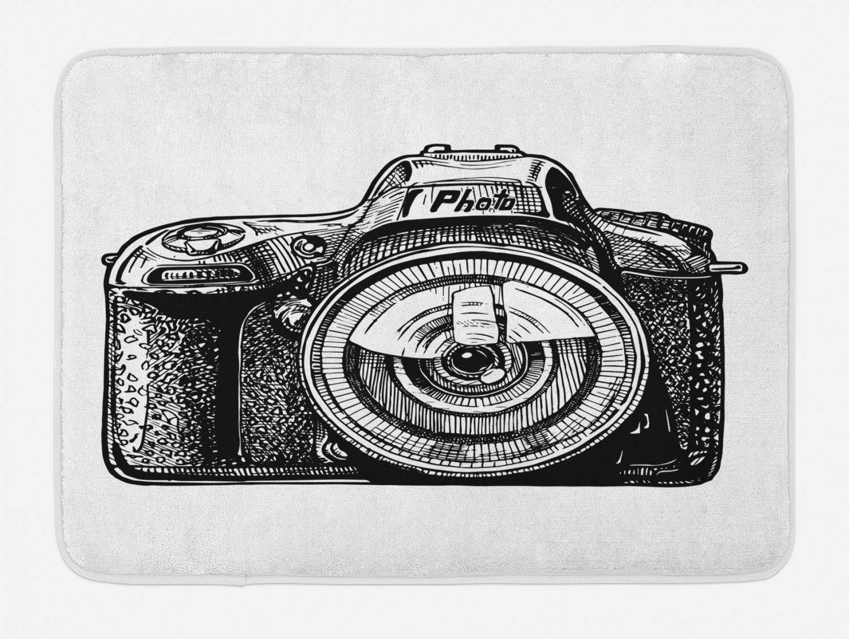 Soefipok Cámara Estera de baño, Sketch Dispositivo de Fotos Retro ...
