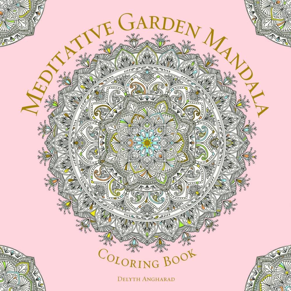 Meditative Garden Mandala Coloring Serene product image