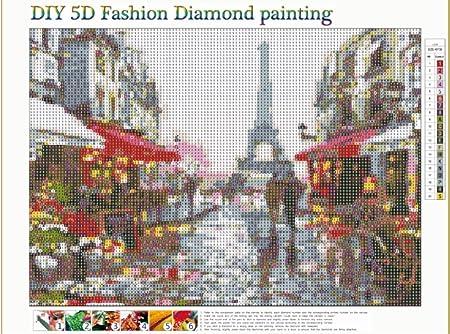 15.7inch DIY 5D Diamond Painting Kits upain 4 PCS 11.8 Eiffel Tower Diamond Painting Kits Full Drill Embroidery Cross Stitch Arts Craft for Home Wall Decor