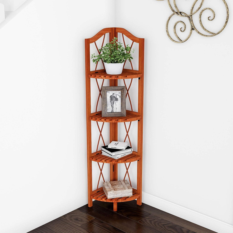 Corner Shelf Floating Wall Shelf Storage Bookcase Rack Display Design 2-5 Tiers