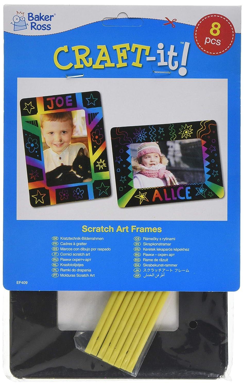 Cornici Scratch Art per Bambini da Creare Personalizzare ed Esporre come Idea Creativa (confezione da 8) Baker Ross