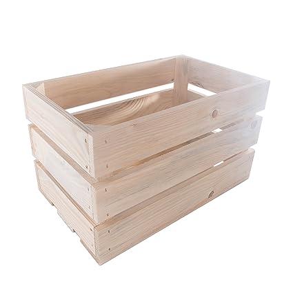 SEARCHBOX Caja de Almacenamiento de Madera para Frutas y Verduras, 40 x 24,5
