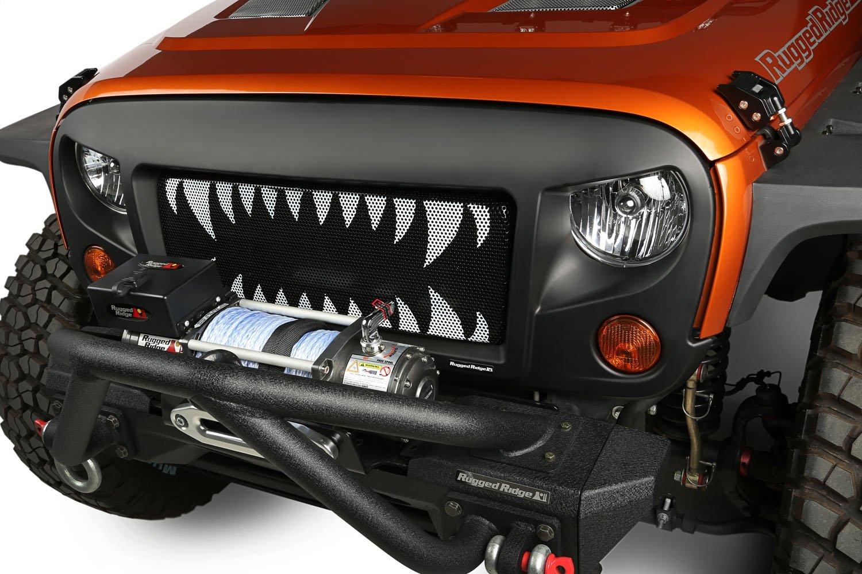 Star Rugged Ridge 12034.21 Spartan Grille Insert for Jeep JK Wrangler