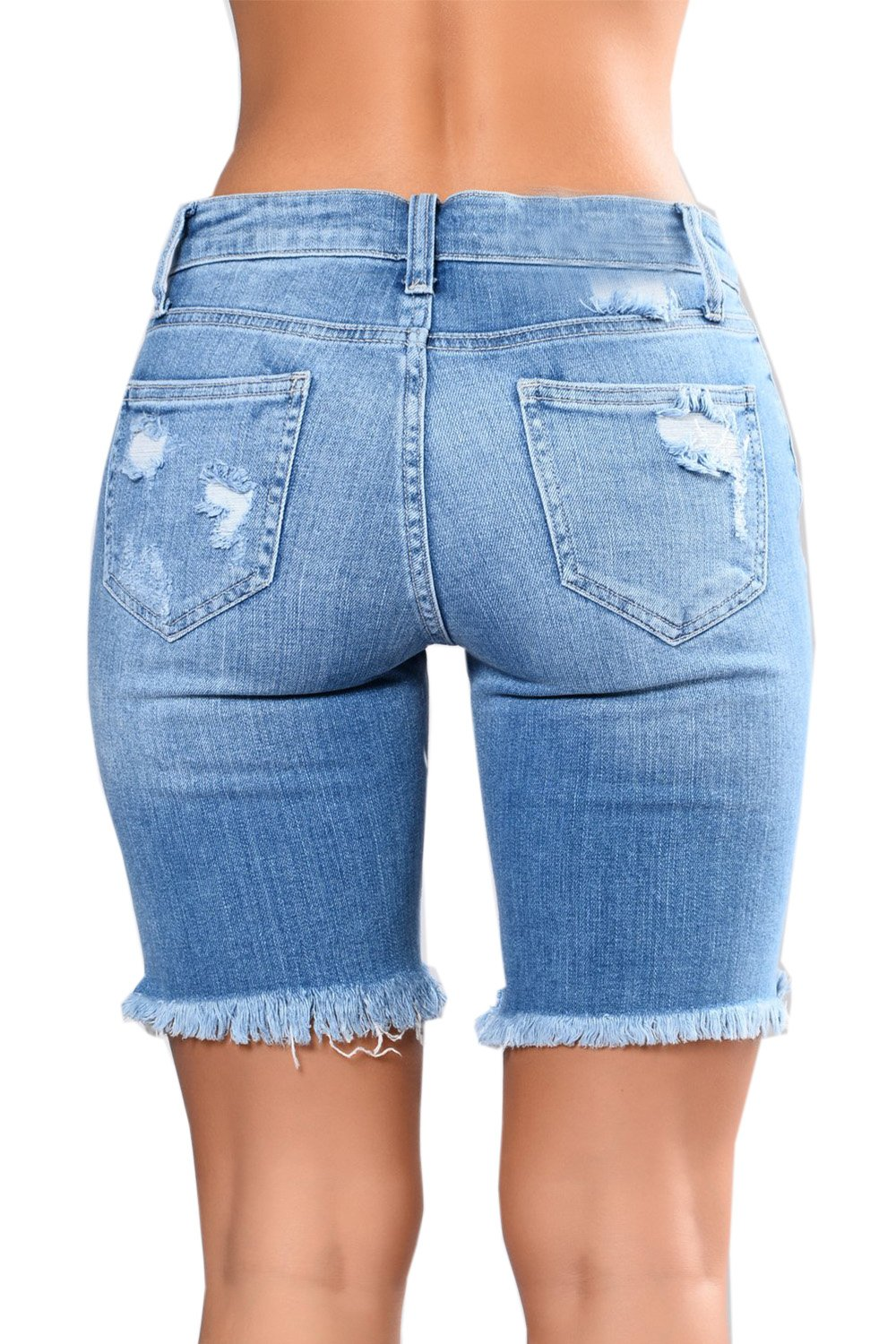Chellysun Women Ripped Hole Distressed Washed Hot Shorts Denim Jeans by Chellysun (Image #3)