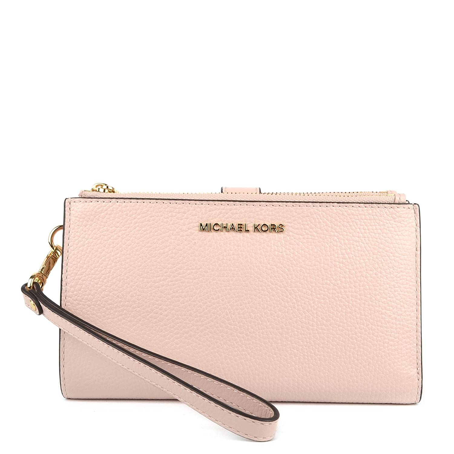 MICHAEL Michael Kors Adele Leather Smartphone Wristlet (Rose Pink): Handbags: Amazon.com
