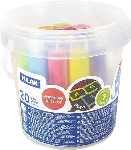 Milan 247120 - Pack de 20 tizas: Amazon.es: Oficina y papelería