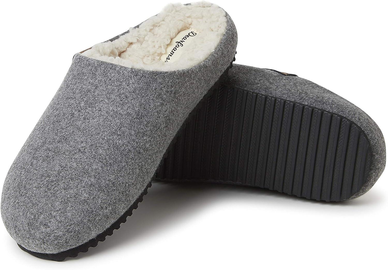 Dearfoams Women's Microwool Molded Footbed Clog Slipper