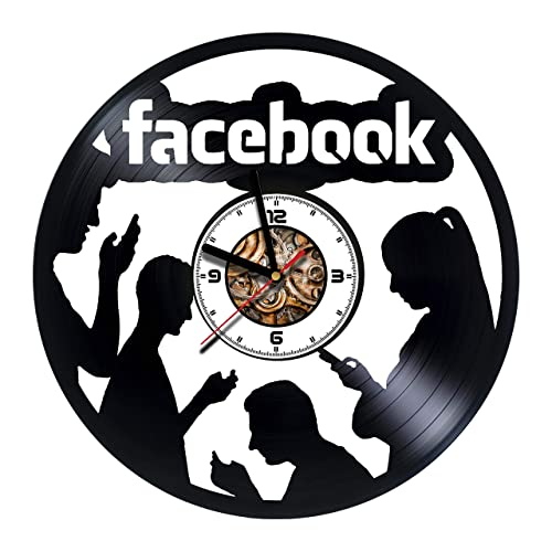 facebook handmade vinyl wall clock get unique gifts presents for birthday christmas