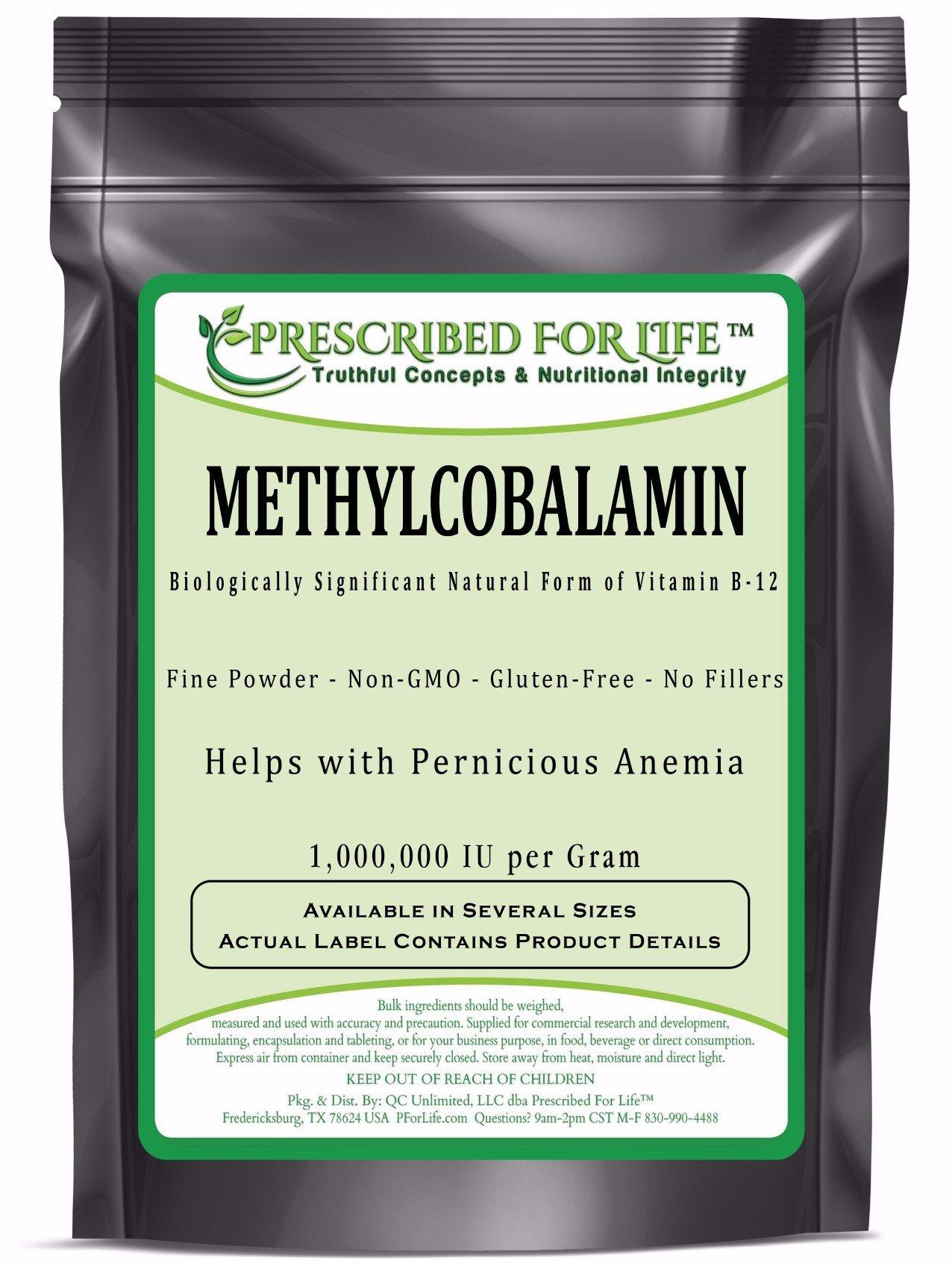MethylCobalamin - Natural Vitamin B-12 Pure Powder (1,000,000 IU per Gram), 1 oz