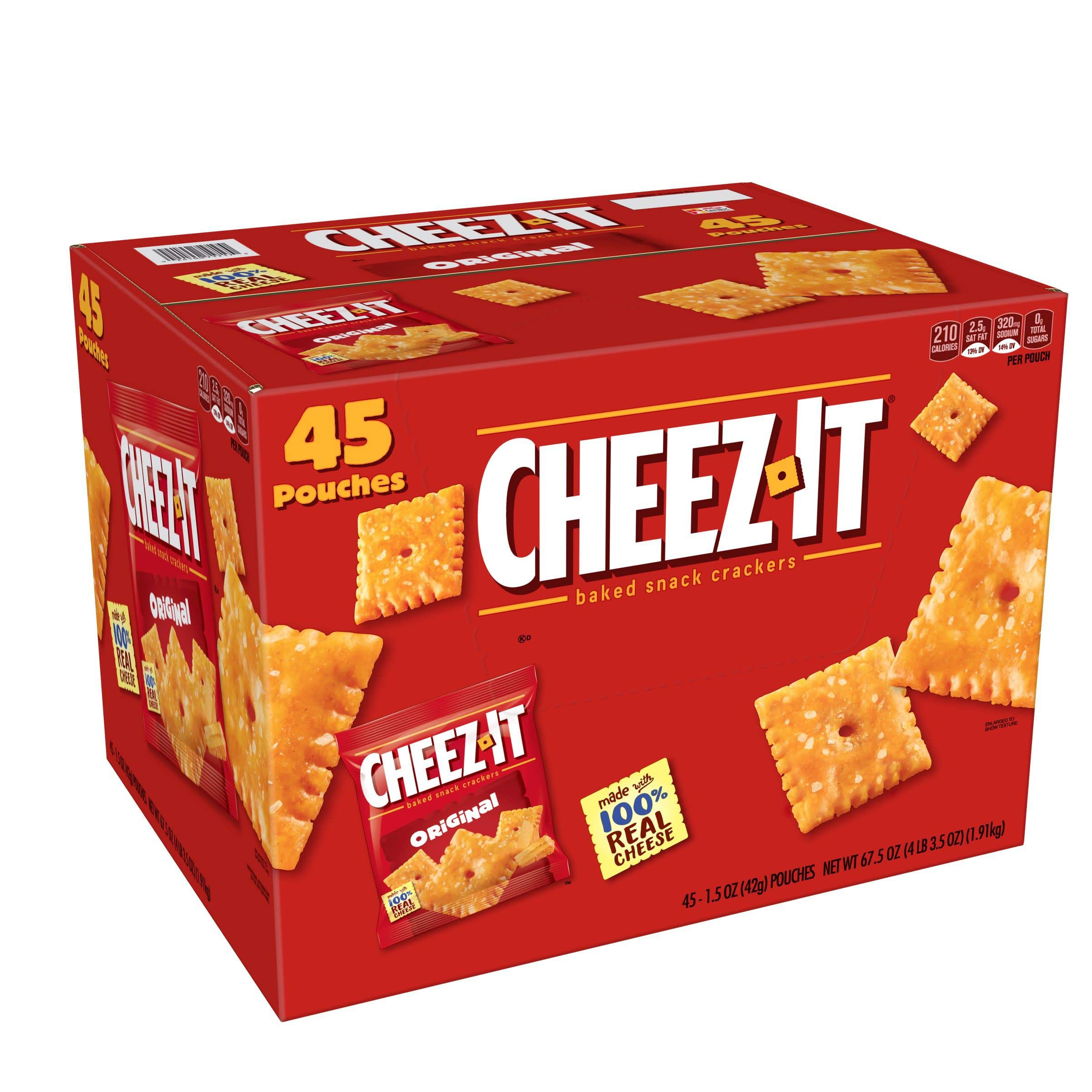 Cheez-It Snack Pack, Original, 67.5 Ounce