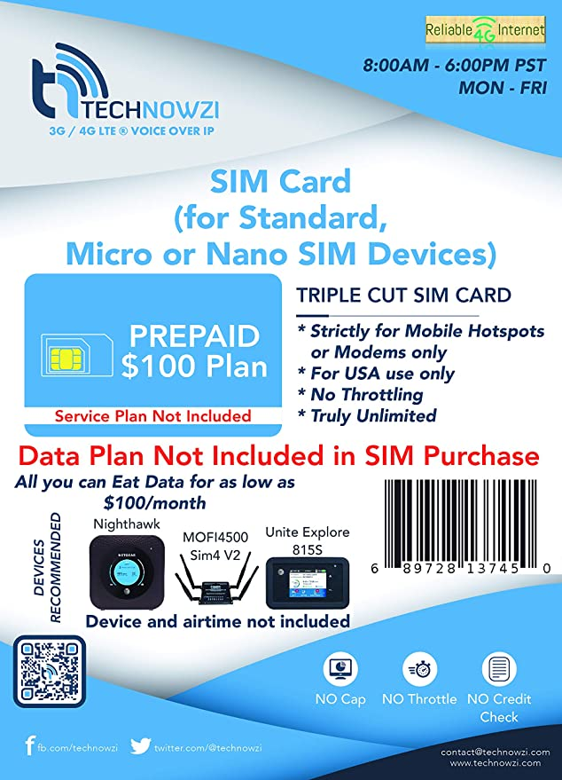 PREPAID Truly Unlimited Data plus 1 month Page Plus Service!