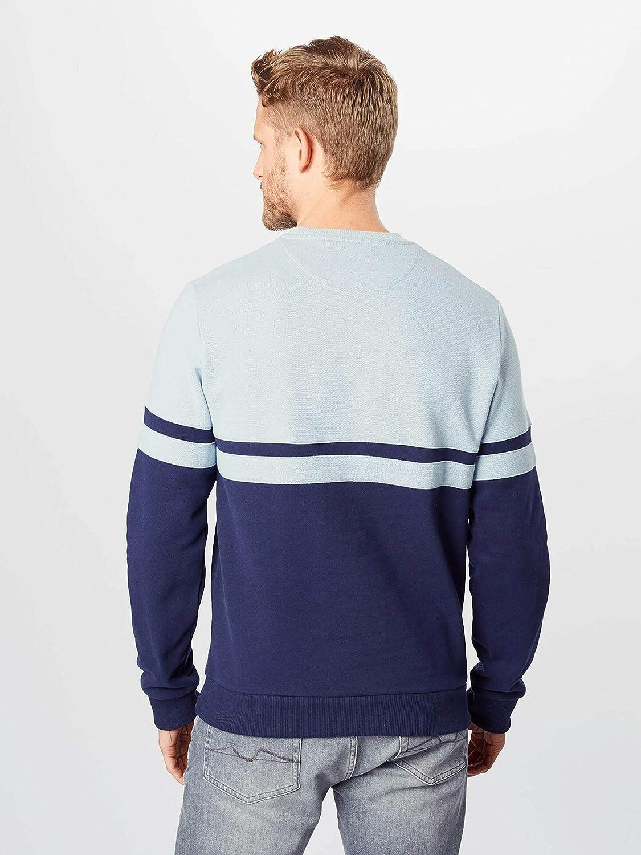 Lyle /& Scott Panel Stripe Crew Neck Sweatshirt