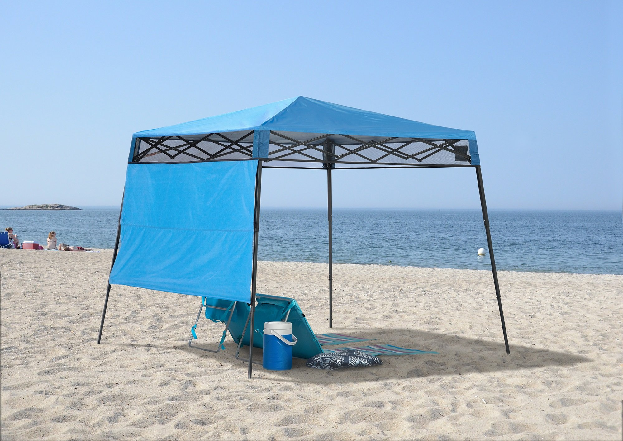 Quik Shade GO Hybrid Compact Slant Leg Backpack Canopy, Blue, 7 x 7-Foot by Quik Shade Pets (Image #2)