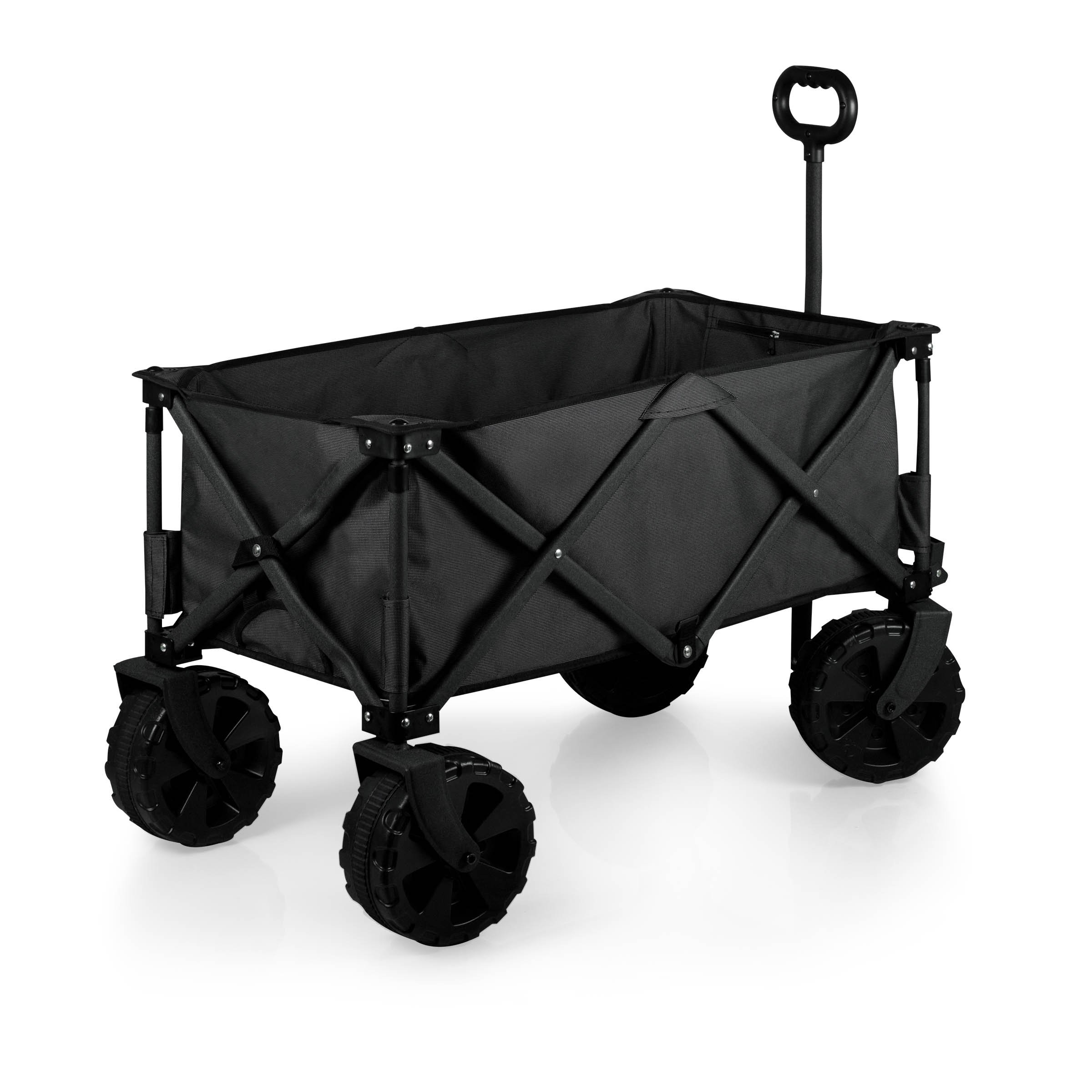 Picnic Time Collapsible Adventure Wagon with All-Terrain Wheels, Black/Gray