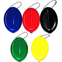 USA Made Oval Squeeze Coin Purse - 5 New Coin Purses in Popular Colors