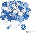 400 Foam Snowflakes for Craft Projects