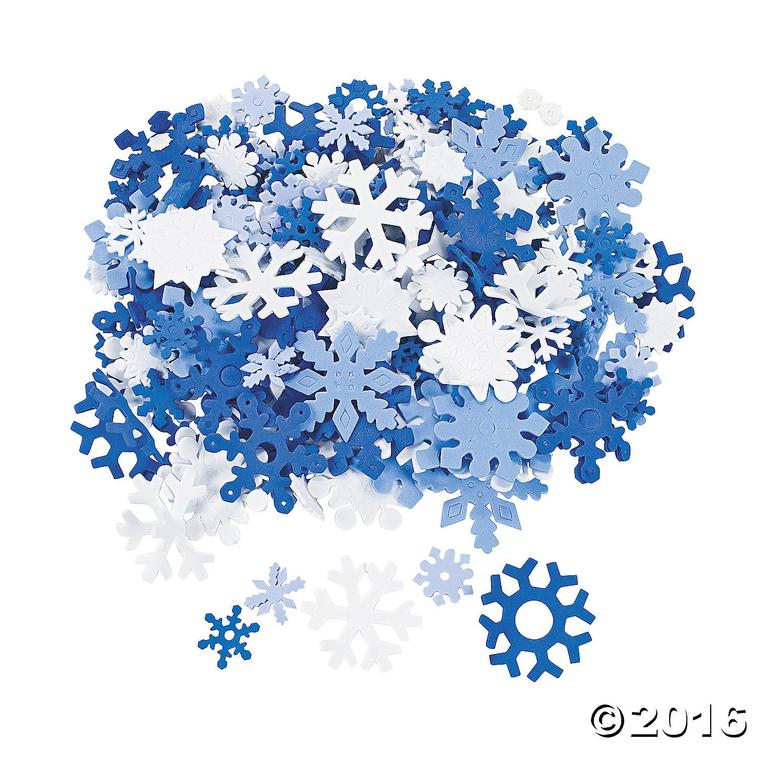 amazon com 400 foam snowflakes for craft projects toys u0026 games