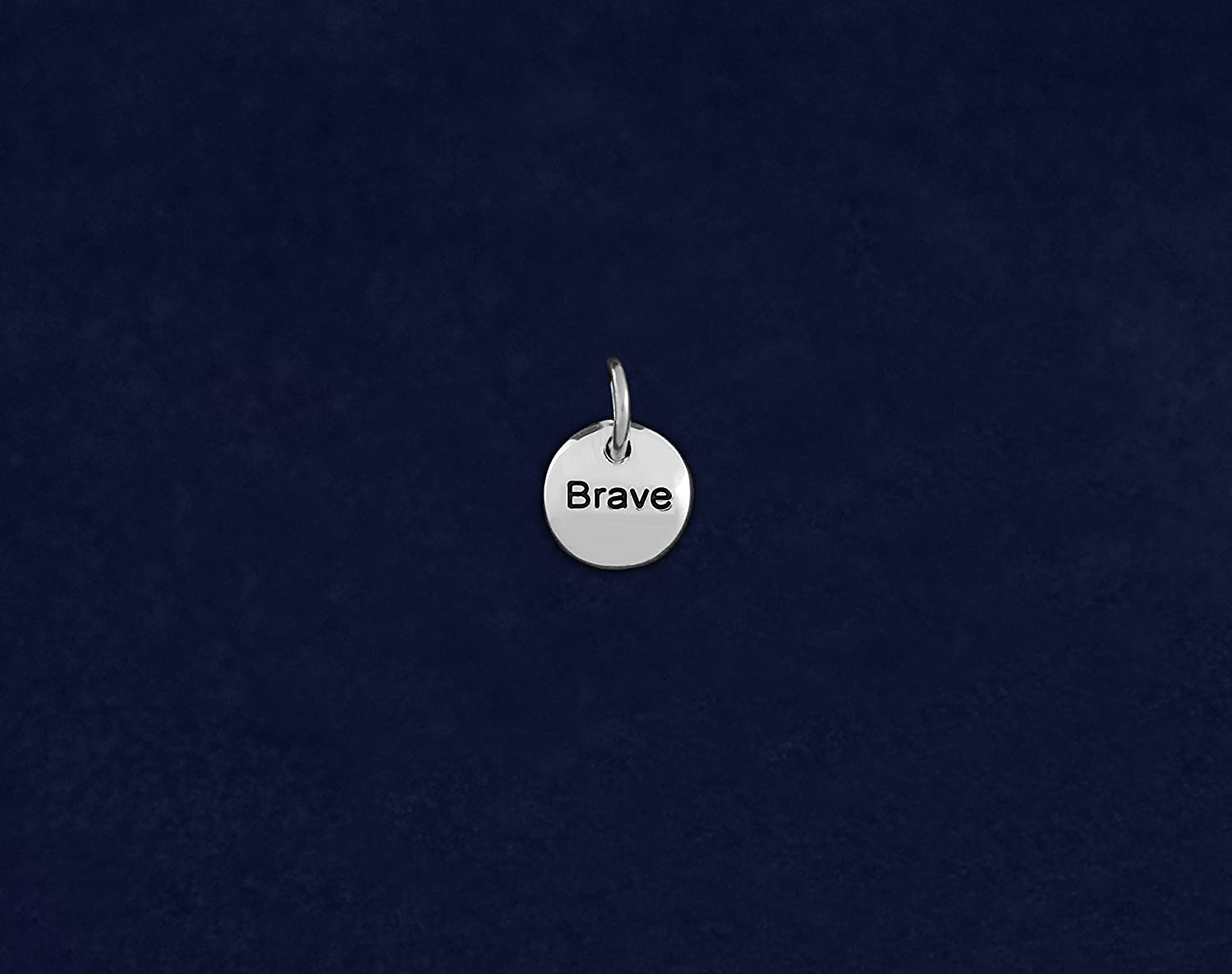 Retail Fundraising For A Cause Silver Circle Brave Charm