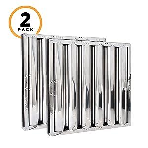 Kleen-Gard Stainless Steel Commercial Kitchen Range Hood Filter, 20x20x2, (Pack of 2)