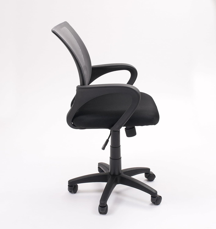 Sedia da ufficio studio o scrivania Practik con braccio e tessuto 3d Az/úl