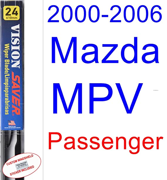 Amazon.com: 2000-2006 Mazda MPV Wiper Blade (Driver) (Saver Automotive Products-Vision Saver) (2001,2002,2003,2004,2005): Automotive