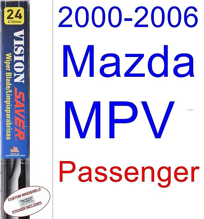 Amazon.com: 2000-2006 Mazda MPV Wiper Blade (Driver) (Saver Automotive Products-Vision Saver) (2001,2002,2003,2004,2005): Automotive