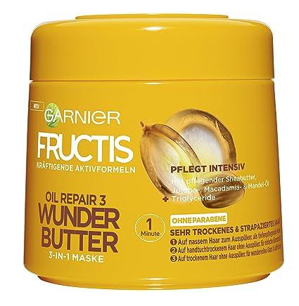 Gel reparador para el cabello de Garnier Fructis Oil Repair Maravillas de mantequilla. 3 en