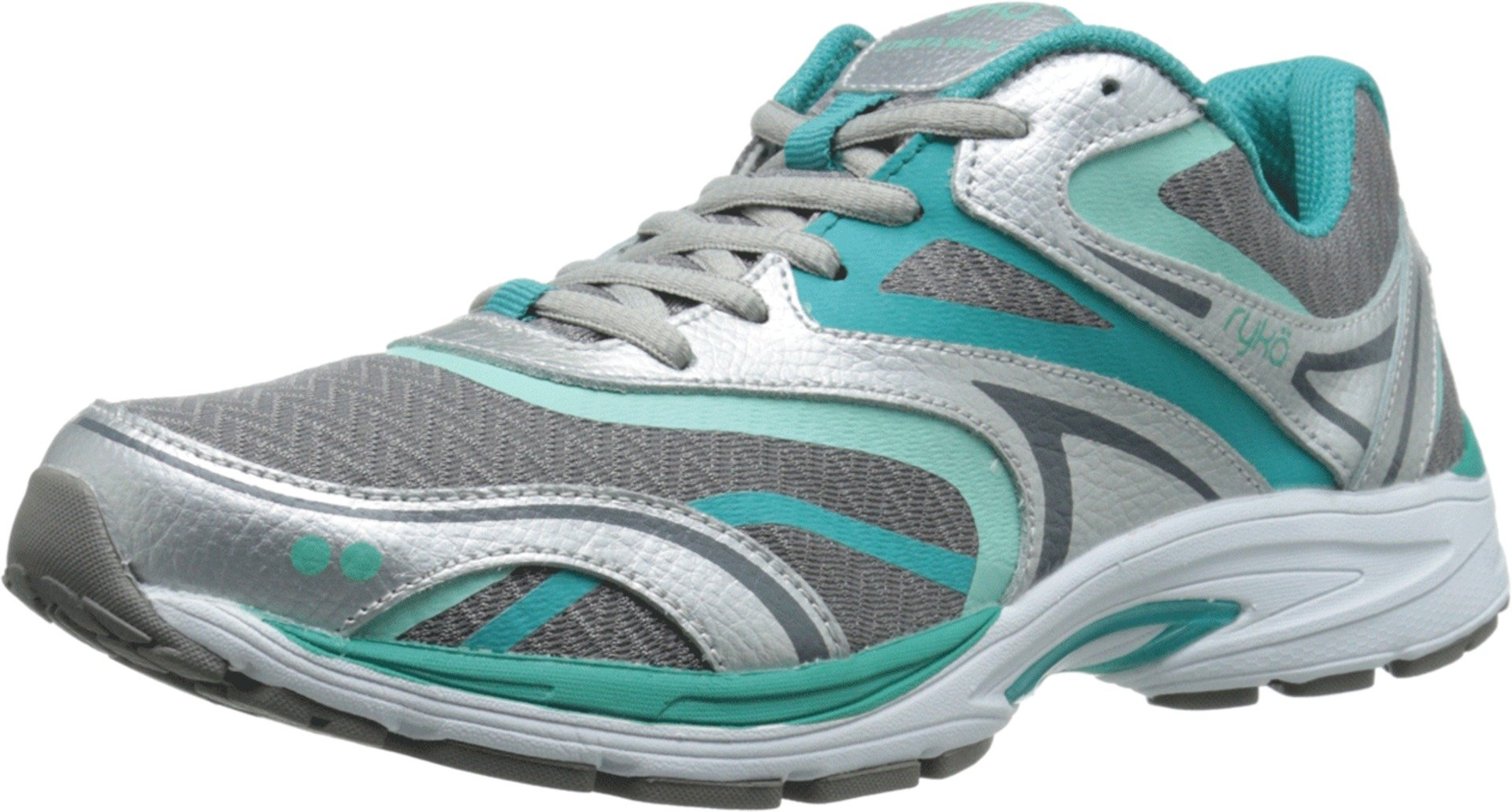 Ryka Women's Strata Walk Walking Shoe, Frost Grey/Beach Glass/Teal Blast/Chrome Silver, 7.5 M US