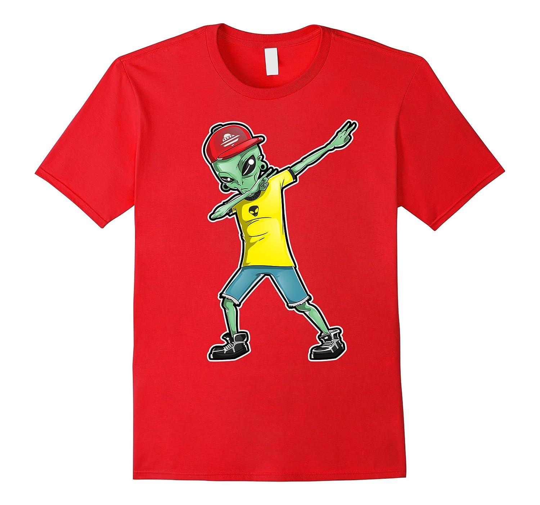Alien Dabbing T Shirt Dab hip hop funny Gift Men Women Kids-T-Shirt