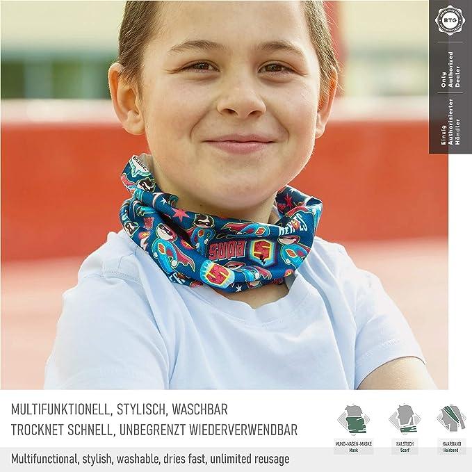 3 ALB Stoffe/® ProtectMe Kids antimicrobianas paquete de 5 mascarillas de protecci/ón para la boca lavables y reutilizables Mix No 100/% hechas en Alemania tela infantil multifuncional