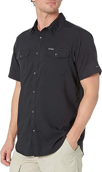 Columbia Men/'s Grey Utilizer II Solid Short Sleeve Shirt Retail $60.00